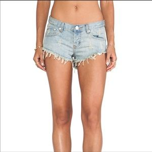 One Teaspoon Bonitas Distressed Shorts Size 30